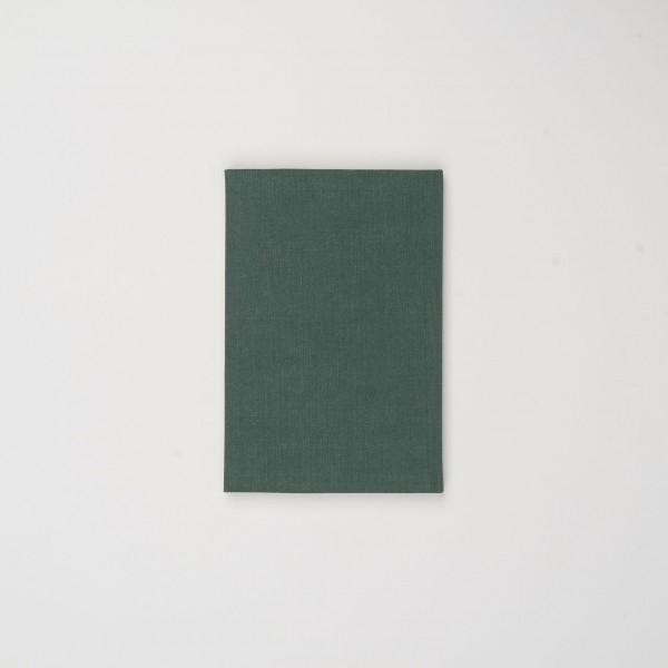 Berliner Notizbuch aus Leinen grün klein