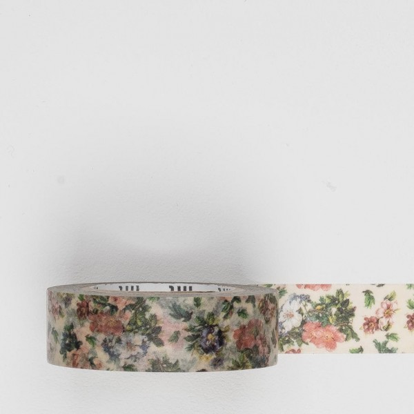 Masking Tape mini flower botanical art