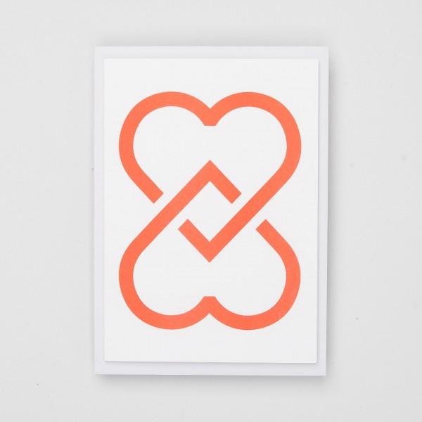 """Jot Paper Riso Karte """"Two Hearts"""""""