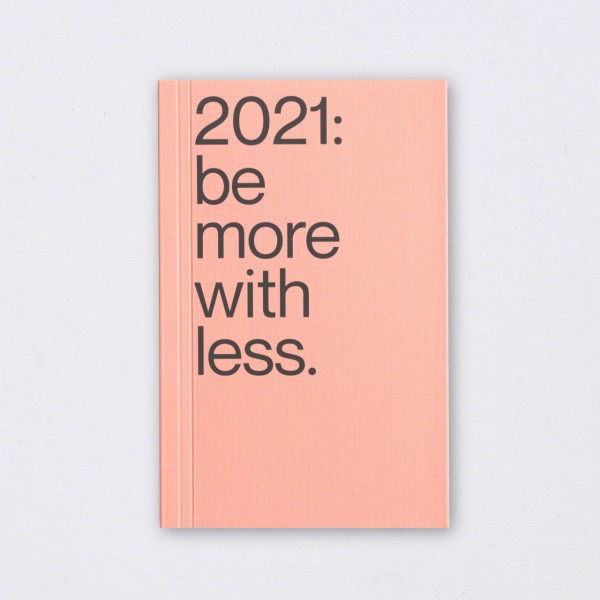 Be More With Less Kalender 2021 peach