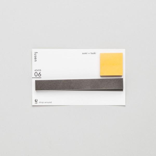 "Geometry Stickies ""sumi + tsuki"" 06"