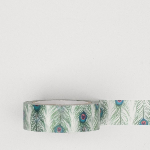 MT Masking Tape peacock feathers