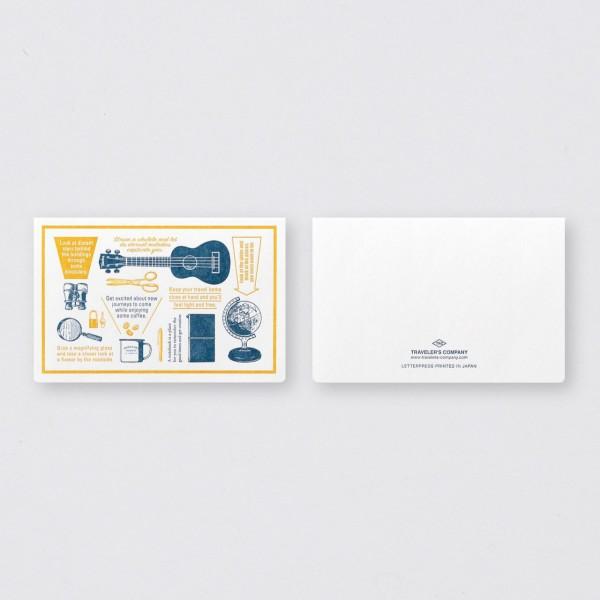 """Midori"" Traveler's Notebook ""Travel Tools"" Letterpress Karte Blau"