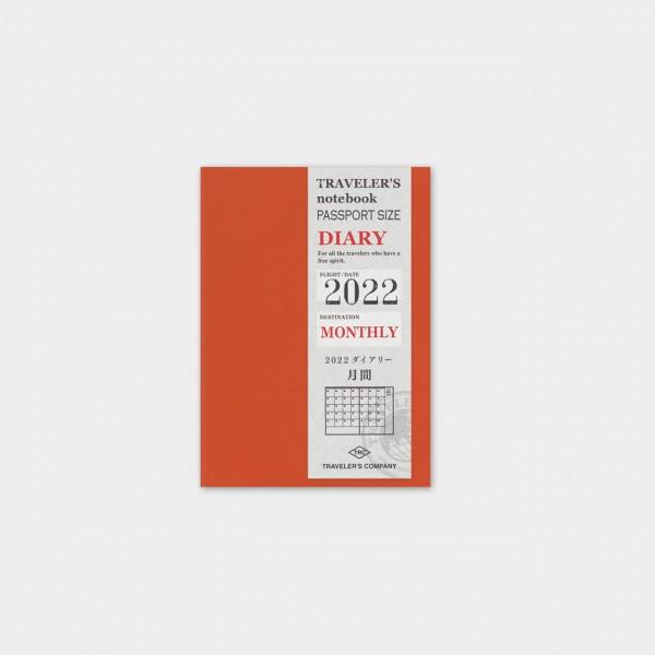 Traveler's Notebook 2022 Passport Monatskalender