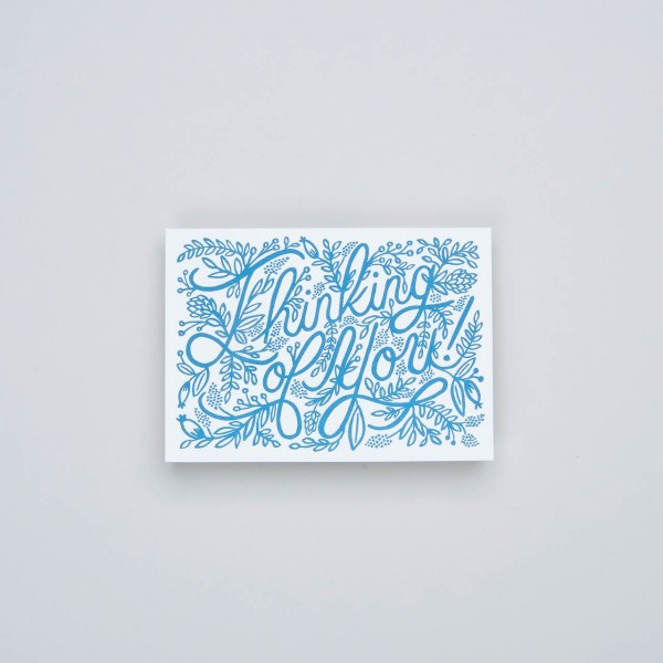 "Rifle Paper Grußkarte Letterpress ""thinking of you"""