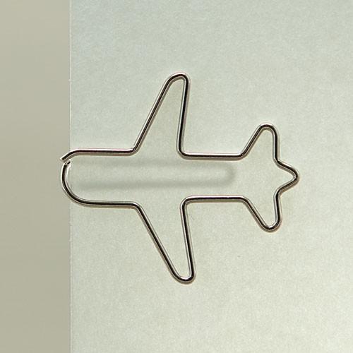 "D-Clip Stahlbüroklammer ""Flugzeug"" (30 St.)"