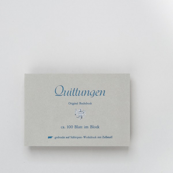 Letterpress Quittungsblock
