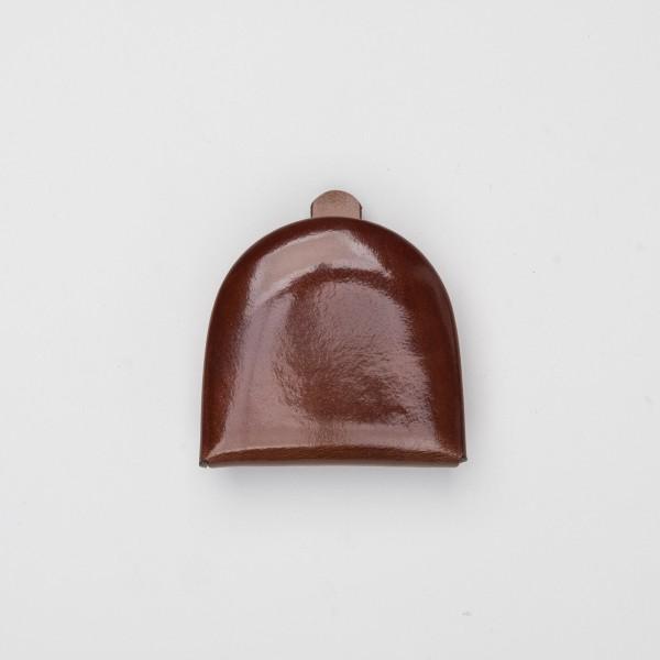 Schüttelbörse mit Scheinefach aus Leder hellbraun