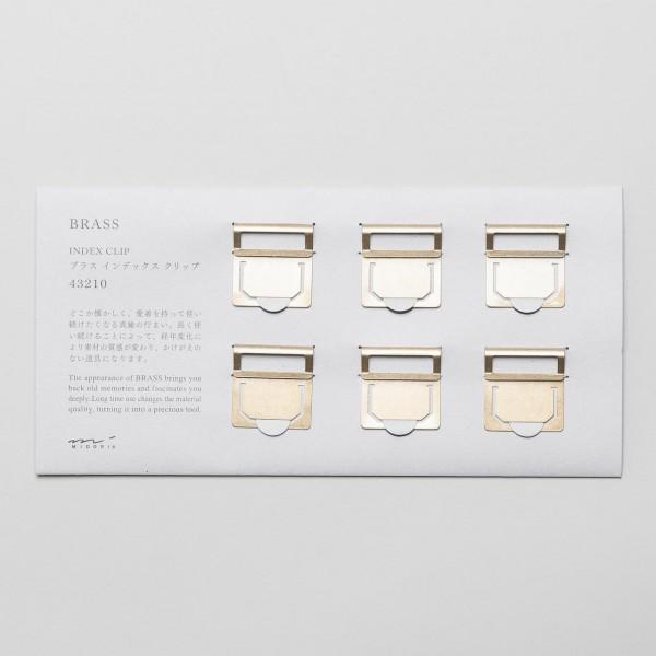 Midori Index Clips aus Messing