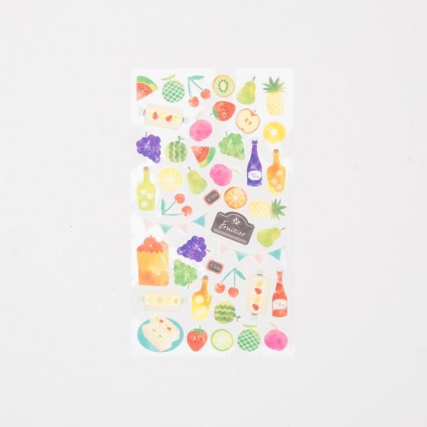 """Midori Masking Sticker """"Marché"""" Früchte"""