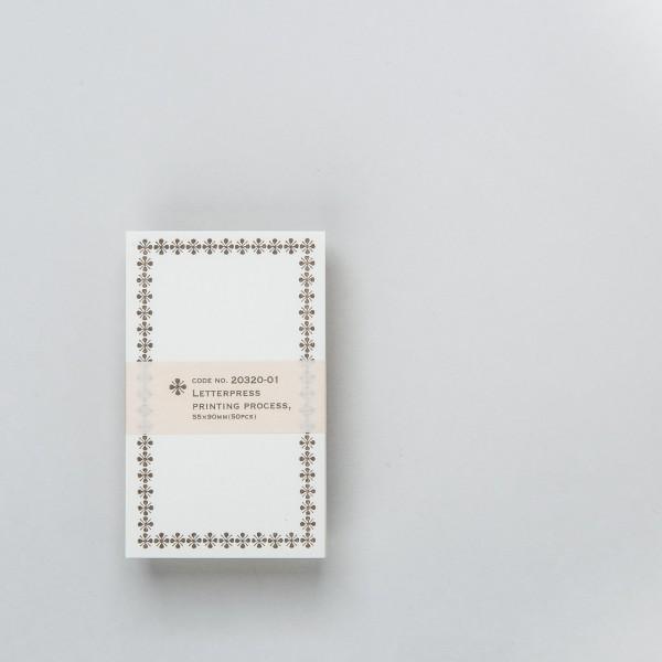 Notizkarten 55 x 90 mm (50 St.) mit braunem Rahmen