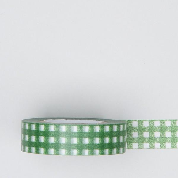 Masking Tape kariert grün