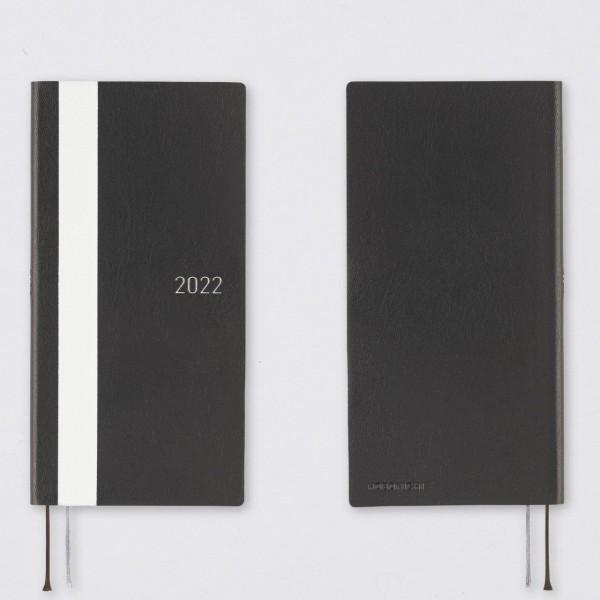 Hobonichi 2022 Kalender Weeks White Line schwarz