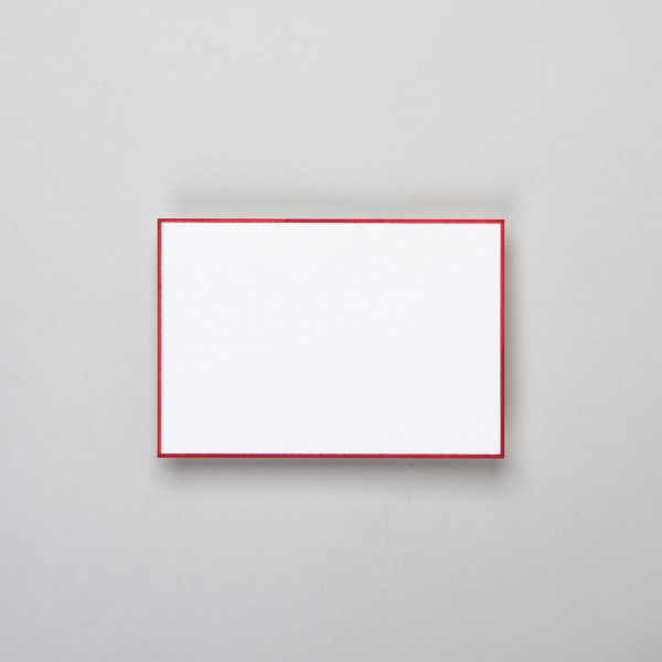Karte & Umschlag handgerändert in rot klein