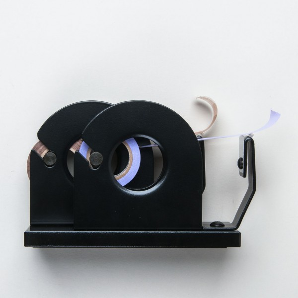 japanischer Tischabroller aus Stahl schwarz doppelt