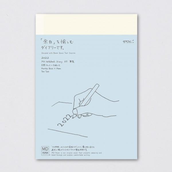 Midori Tagebuch 2022 MD Diary Thin kariert (A5)
