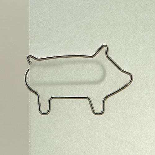 "D-Clip Stahlbüroklammer ""Schweinchen"" (30 St.)"