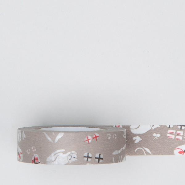 "Masking Tape ""Katze"" hellbraun"