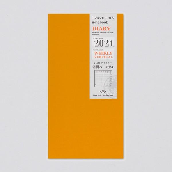 Traveler's Notebook 2021 Regular Wochenplaner vertikal