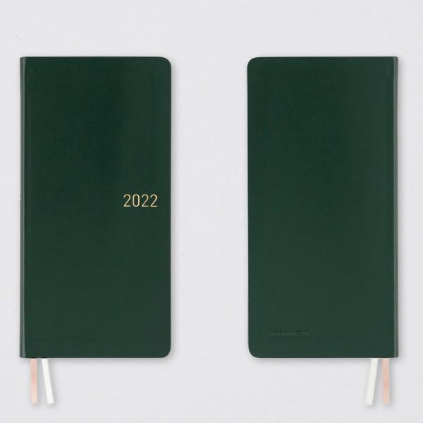 Hobonichi 2022 Kalender Weeks Leder Evergreen