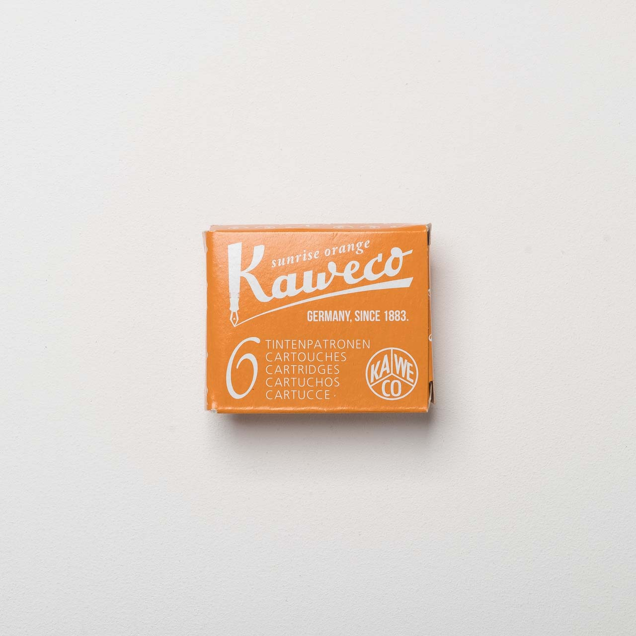 Kaweco Tintenpatronen sunrise orange 6-er