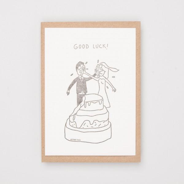 """Grußkarte """"Good Luck Wedding"""""""