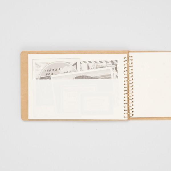 Midori Spiralringbuch Kangaroo B6 quer mit Taschen