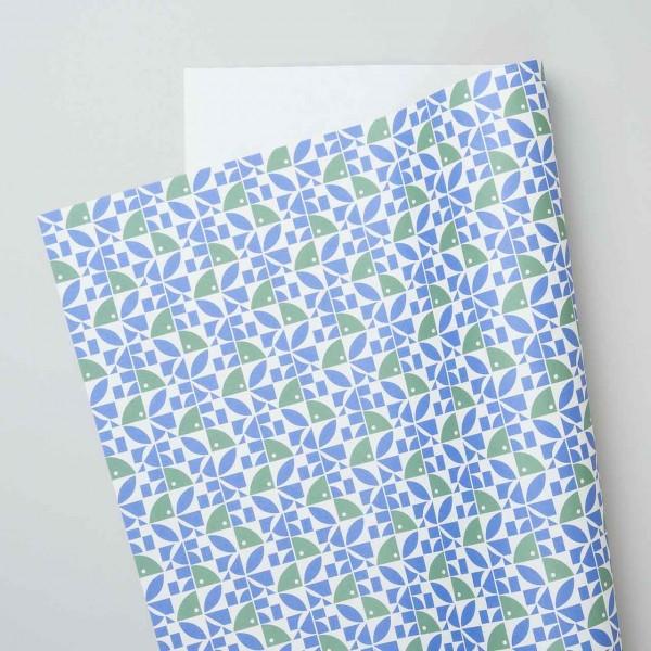 """Esme Winter Geschenkpapier """"Bloom"""" in blau-grün"""