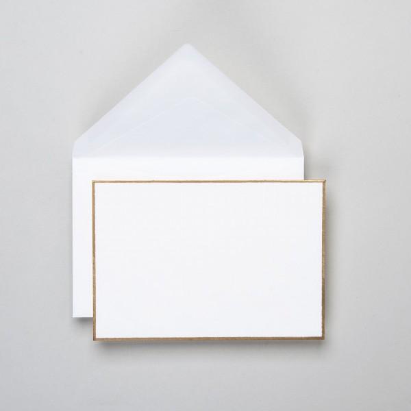 Umschlag handgerändert in gold klein