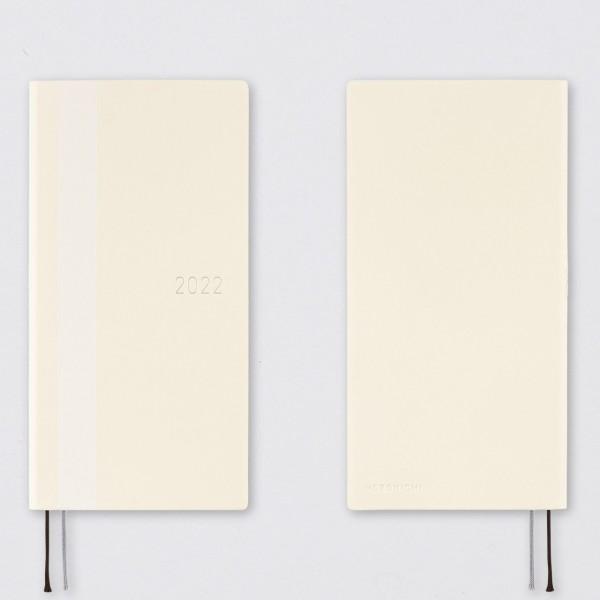 Hobonichi 2022 Kalender Weeks White Line weiß