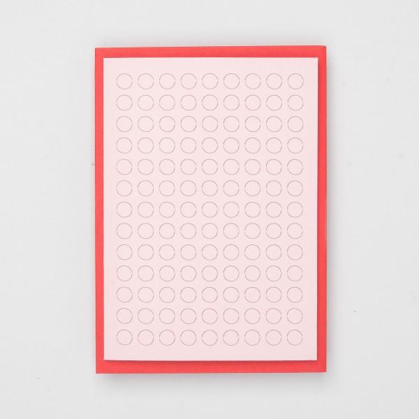 """Jot Paper Karte """"Poke a Dot"""" pink-rot"""