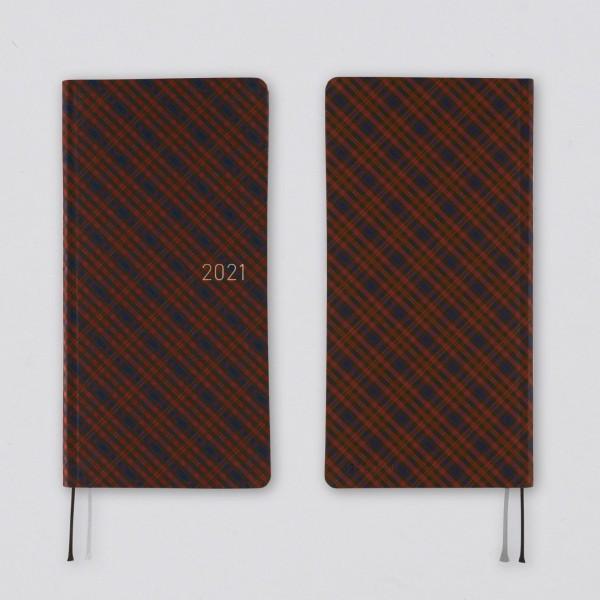 Hobonichi 2021 Kalender Weeks Shirt Fabric: Warm Plaid