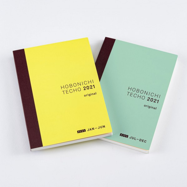 Hobonichi Techo 2021 Kalender A6 Original Avec - 2 Bücher ohne Hülle