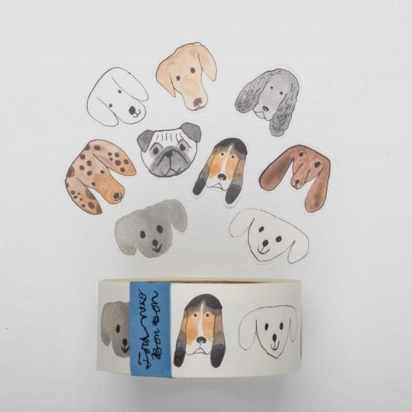 Klebebilder auf Rolle - Hundemotiv (30mm)