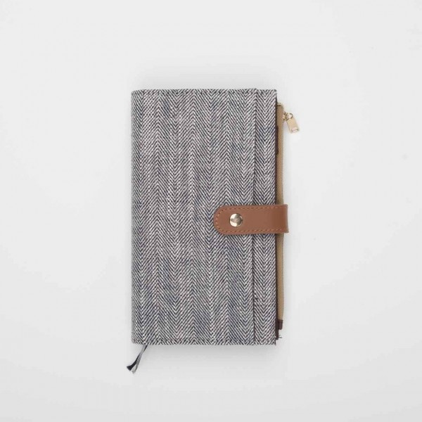 Midori 2020 Pouch Diary Slim - Herringbone