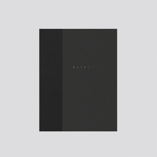 polnisches Notizbuch punktkariert schwarz
