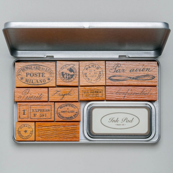 "Cavallini Rubber Stamps ""Par Avion"""