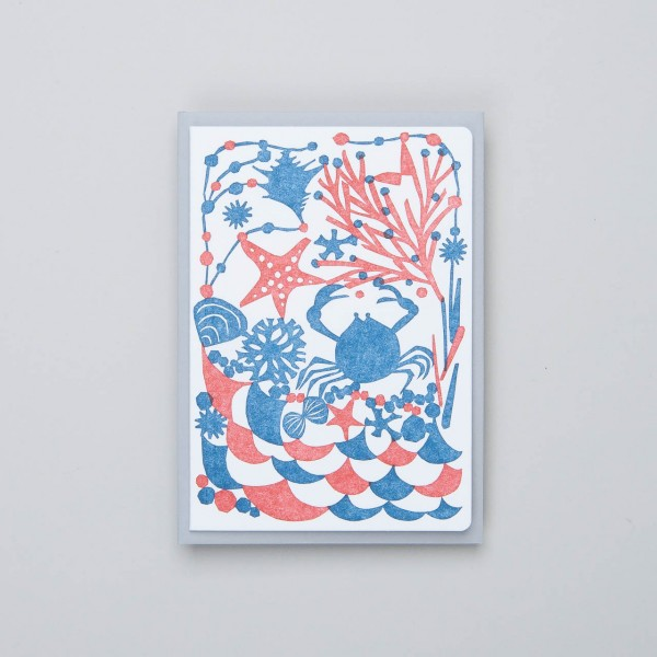 "japanische Letterpress Klappkarte ""Sand"""