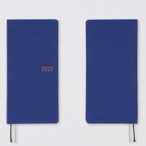 Hobonichi 2022 Kalender Weeks Mega Phantom Blue