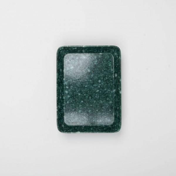 Melamin kleines Tablett dunkelgrün