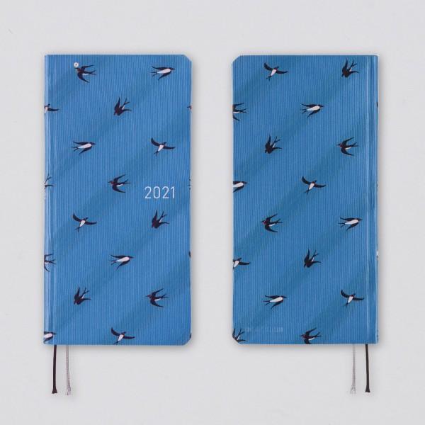 Hobonichi 2021 Kalender Weeks Bow & Tie: Swallows