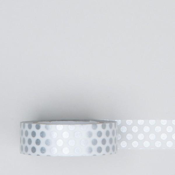 """Masking Tape """"Dot"""" silver"""