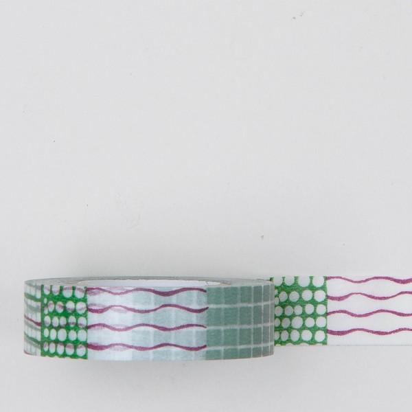 Masking Tape Mustermix grün