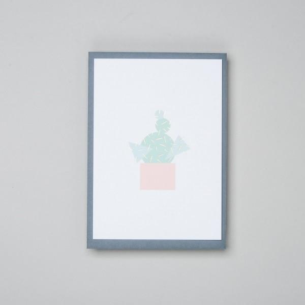 "Grußkarte ""Geometric Cactus"""
