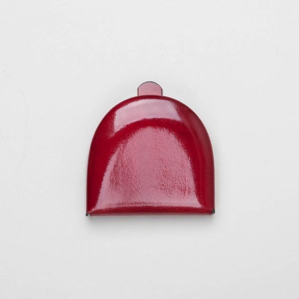 Leder-Schüttelbörse mit Scheinefach rot