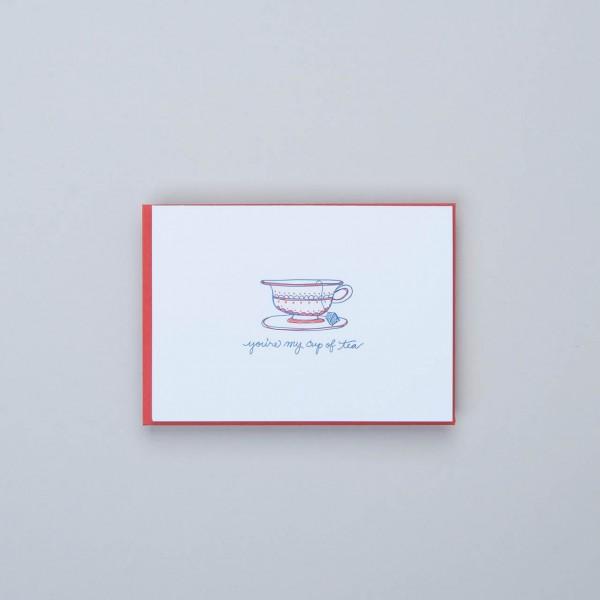 "Klappkarte Letterpress ""my cup of tea"""