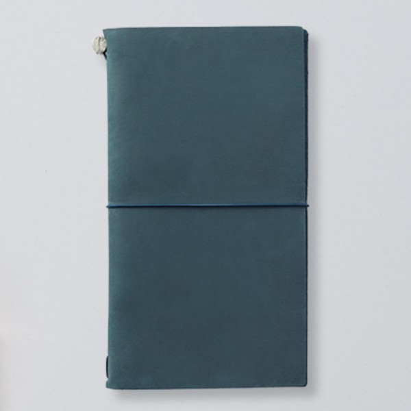 Traveler's Notebook aus Leder blau