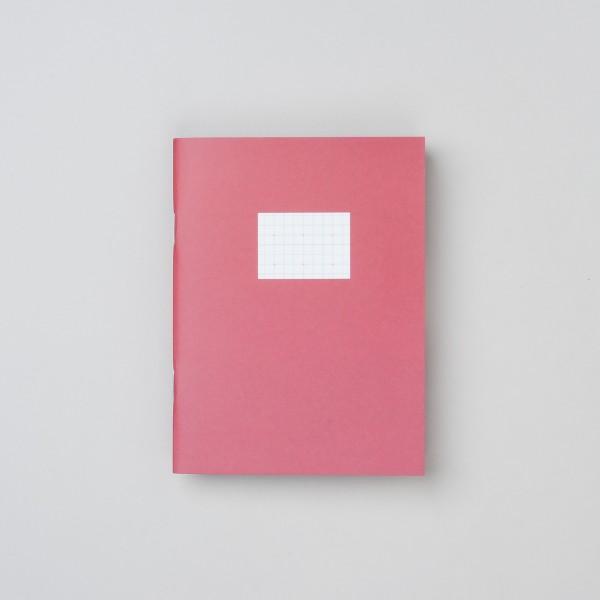 Paperways Notizheft klein in rot kariert mit Plusmuster