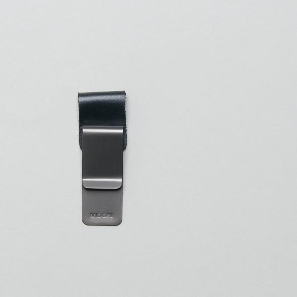 """Traveler's Notebook Leder-Stiftschlaufe klein schwarz """"015"""""""