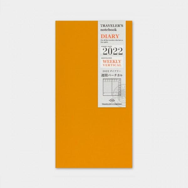 Traveler's Notebook 2022 Regular Wochenplaner vertikal